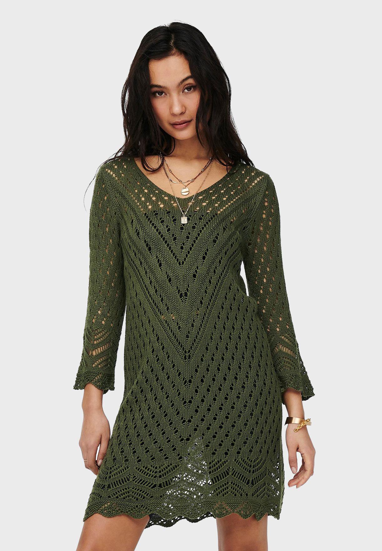 Mesh Knitted Dress