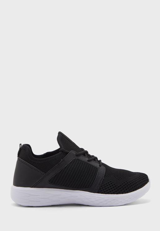 Sleek Casual Knit Sneakers