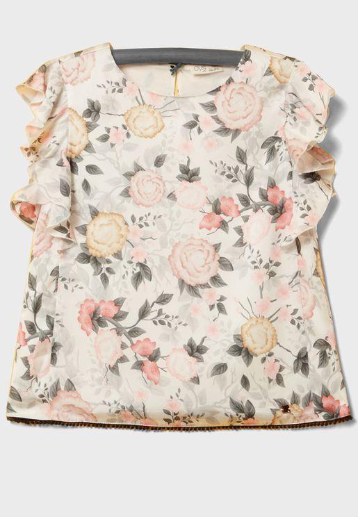 Teen Floral Top