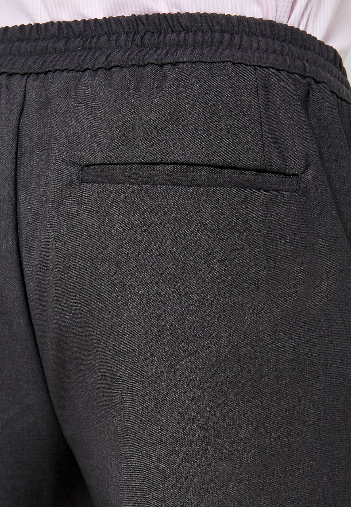 Elasticated Cropped Trousers