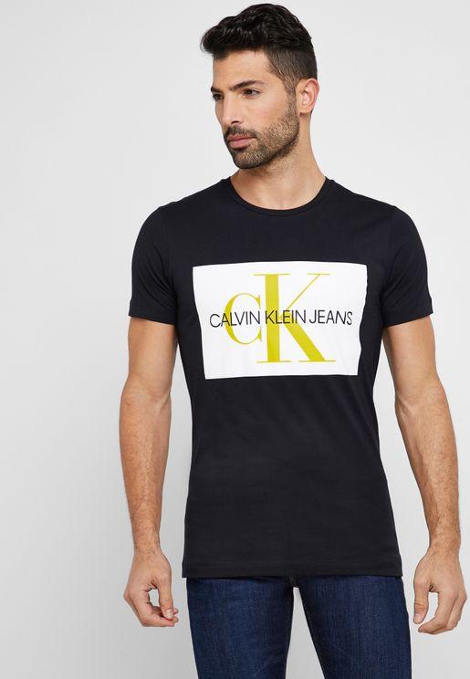Monogram Box Logo Crew Neck T-Shirt