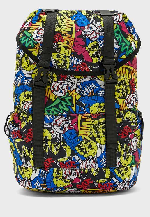 Skull Print Backpack