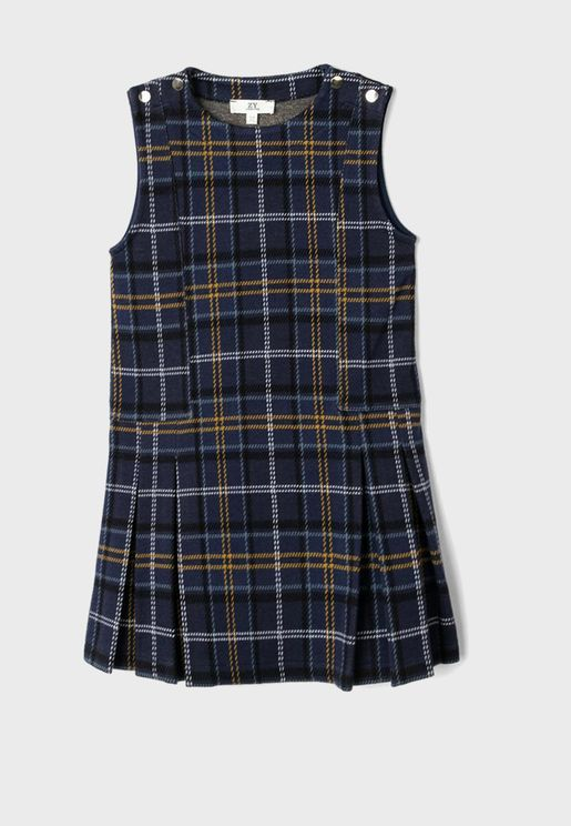 Kids Checked Dress