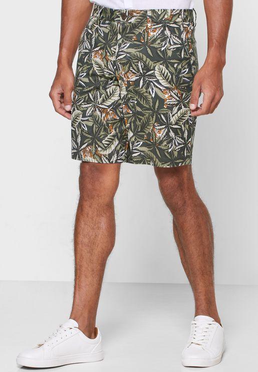 Aiden 9 Tiger Print Shorts