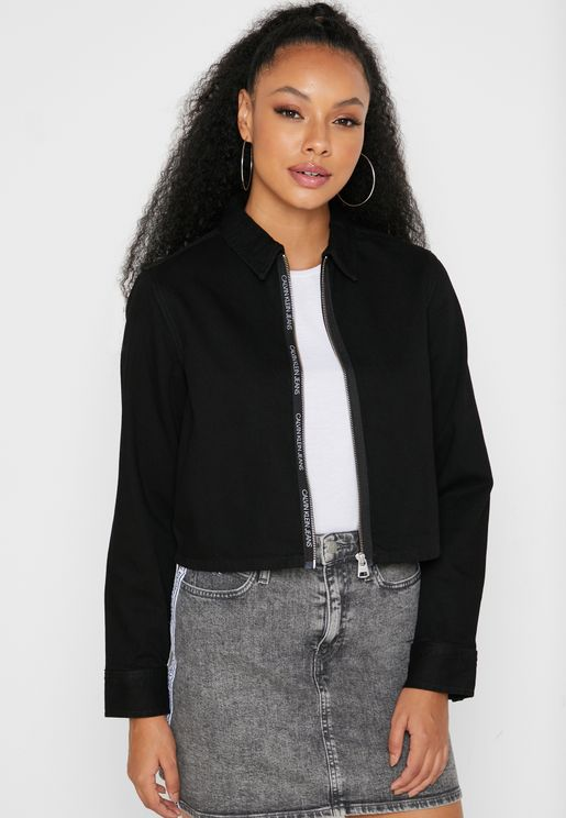 Zip Through Crop Jacket