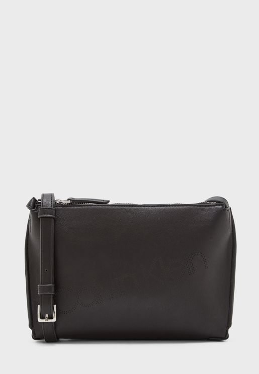 Punched Belted Crossbody