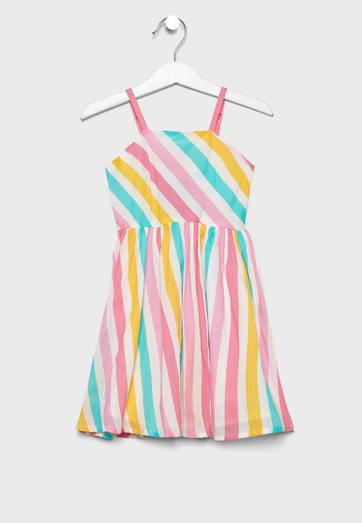 Little Printed Striped Dress