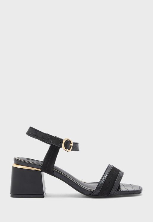 Splice Block Heel Sandal
