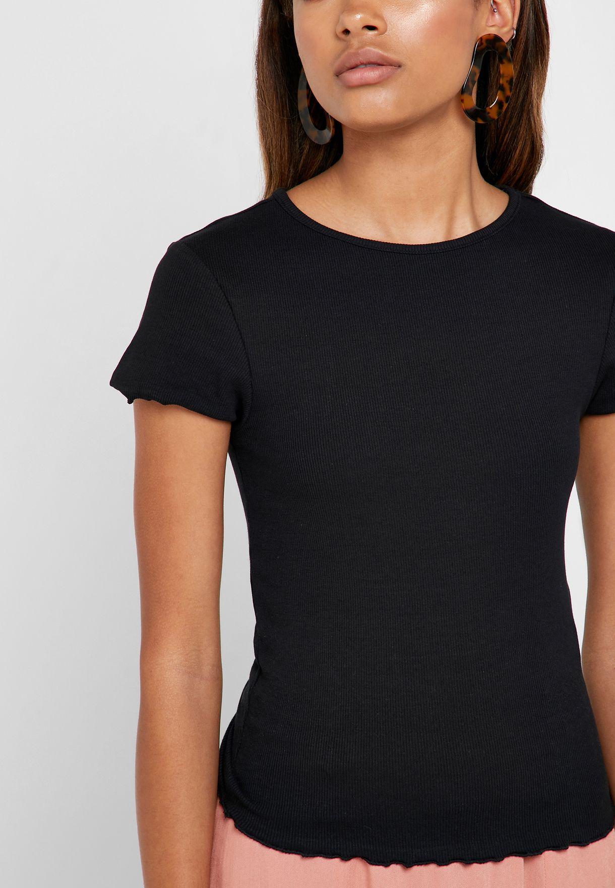 Lettuce Edge Ribbed T-Shirt