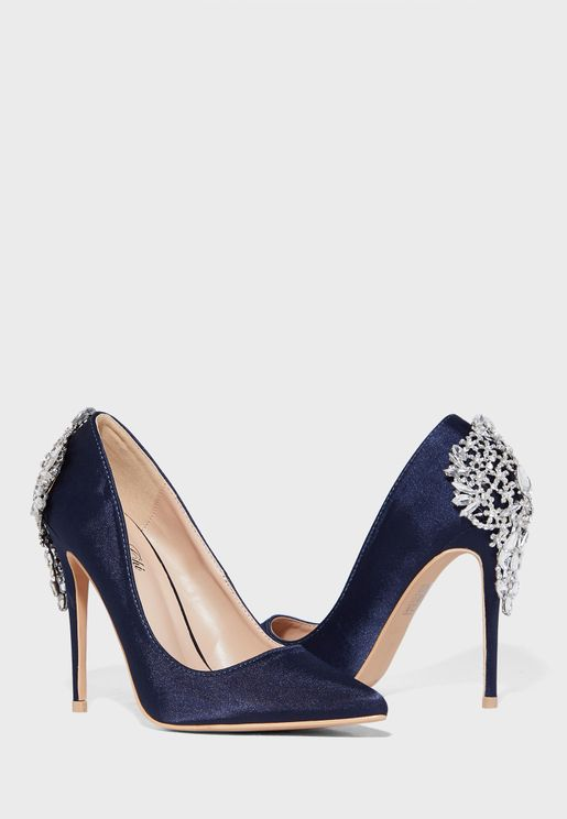 Embellished High Heel Pump