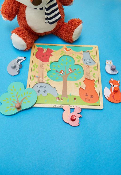 لعبة تركيب على شكل غابة وحيوانات