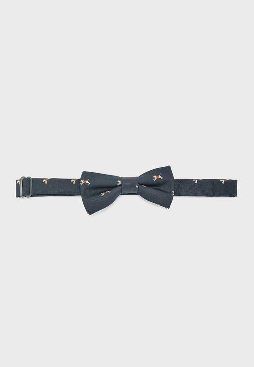 Kids Dog Print Bow Tie