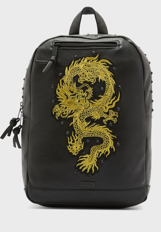 Dragon Print Backpack