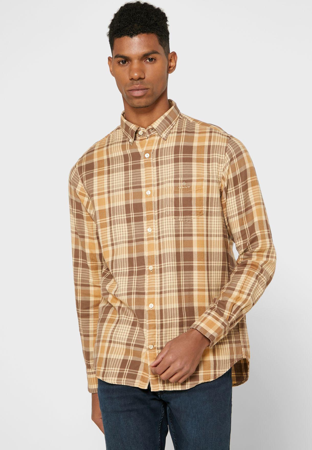 قميص مربعات باكمام طويلة