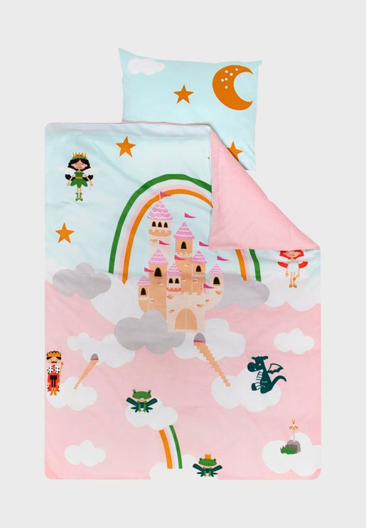 Kids Play Castle Bedding Set 120x150cm