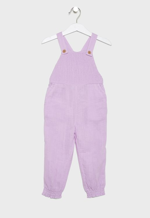 Kids Shirred Jumpsuit