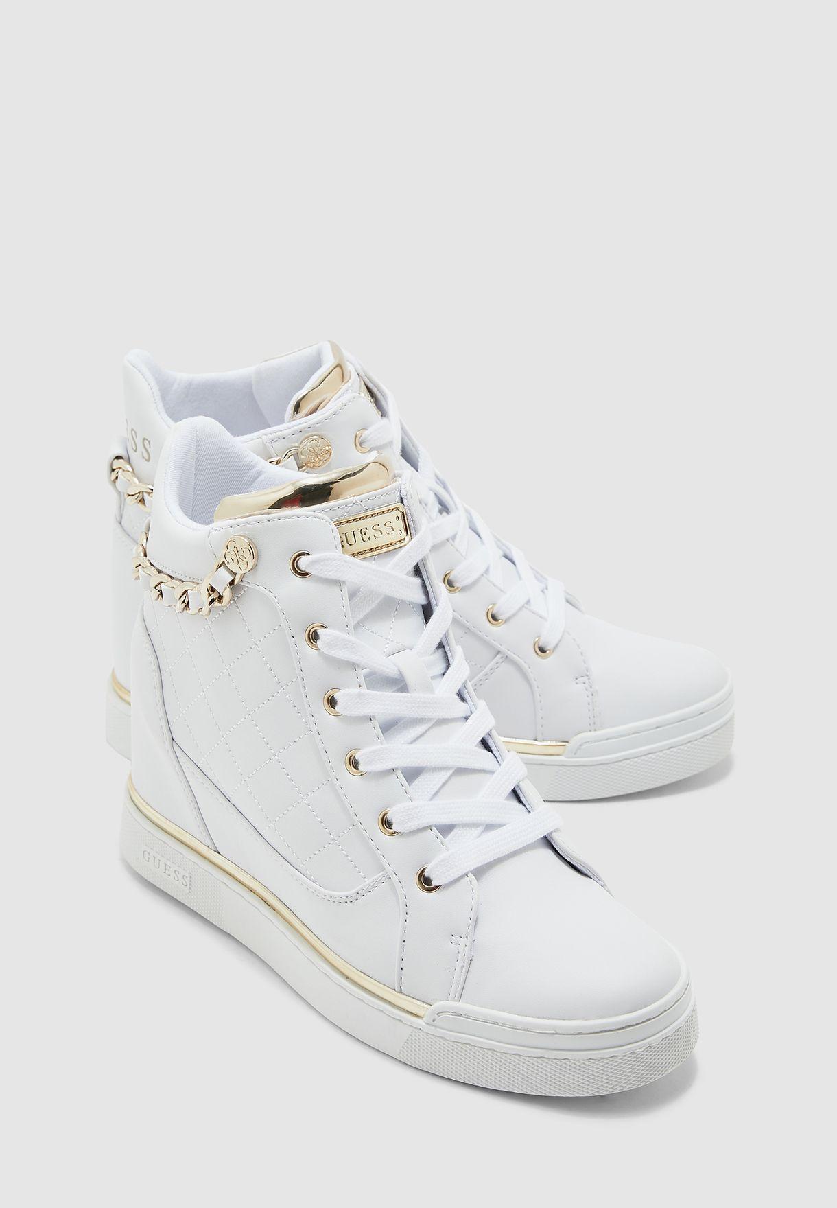 Buy Guess white Nappa High Top Sneaker
