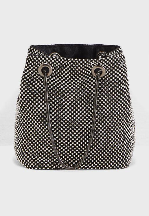 All Over Diamante Detail Bag