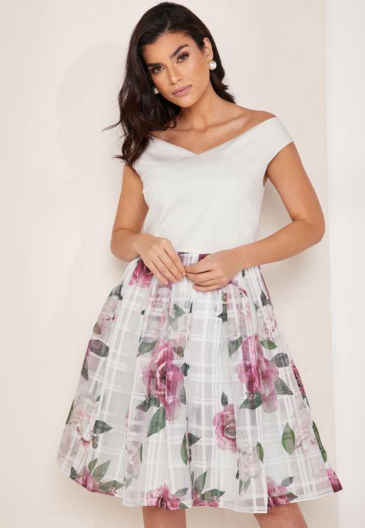 Magnificent Bardot Printed Dress