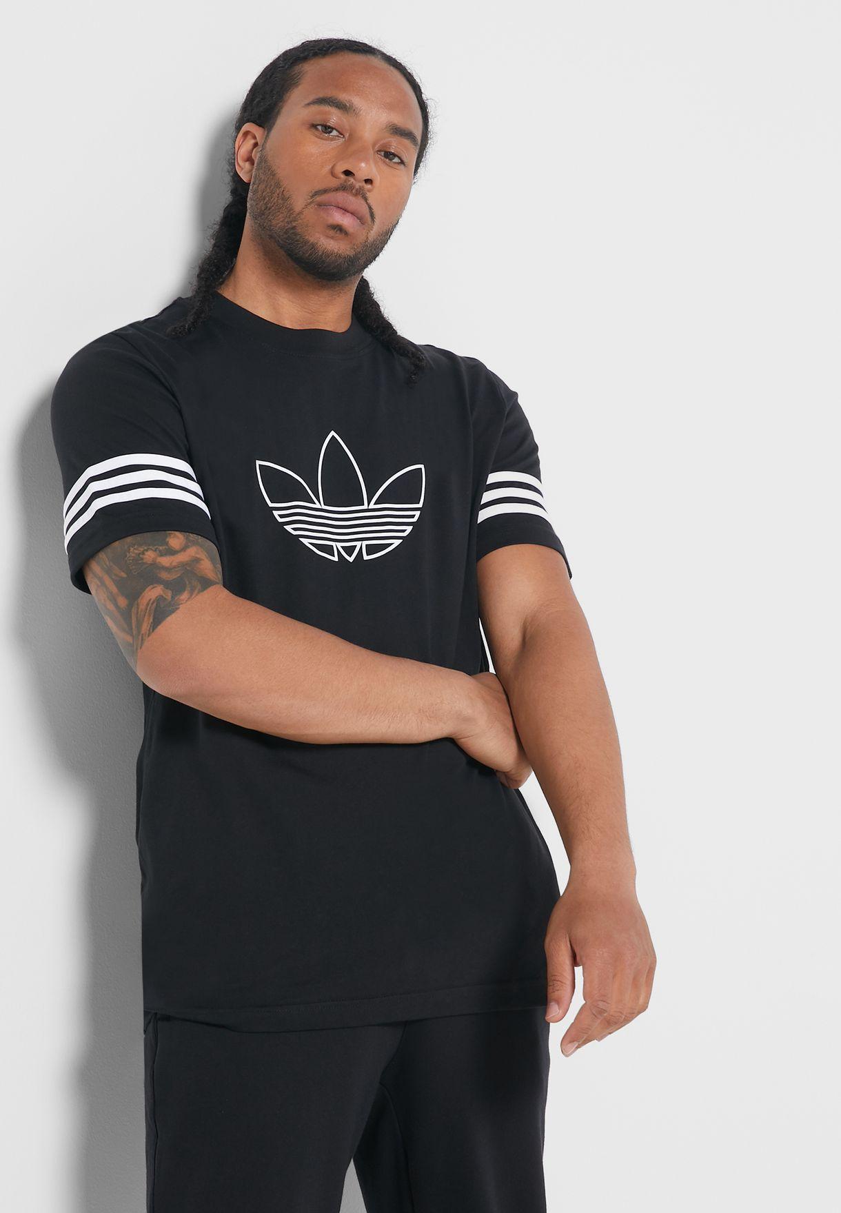 adidas outline t shirt