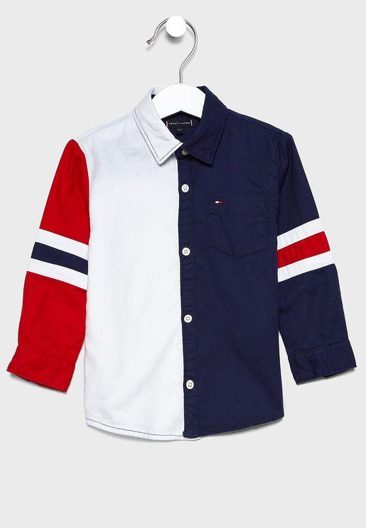 قميص بنمط كتل الالوان