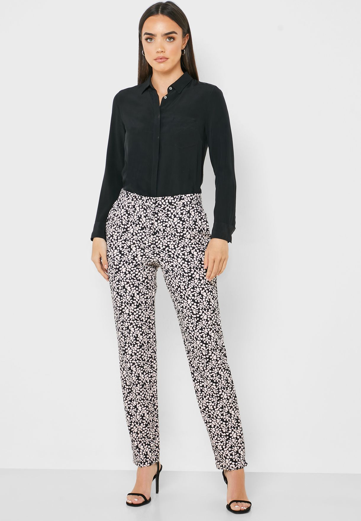 Ankle Grazer Printed Pants