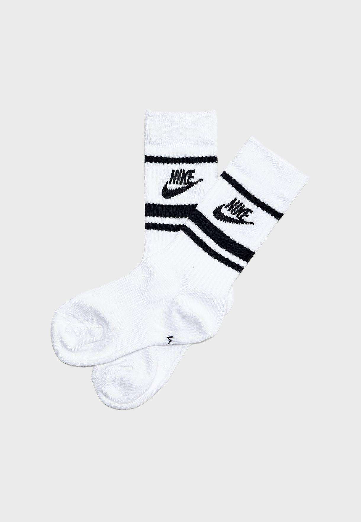 3 Pack Essential Crew Stripe Socks