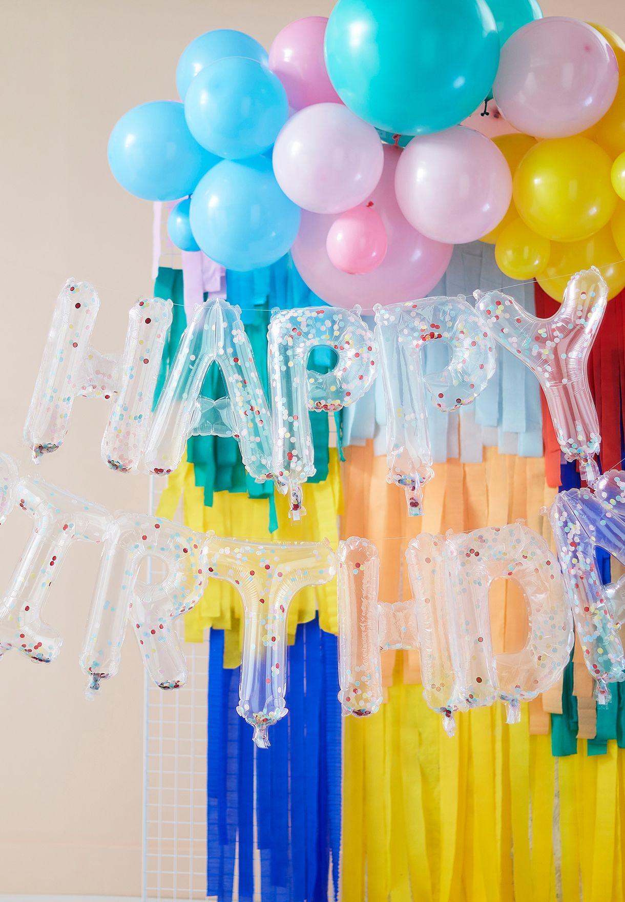 Happy Birthday Confetti Balloon