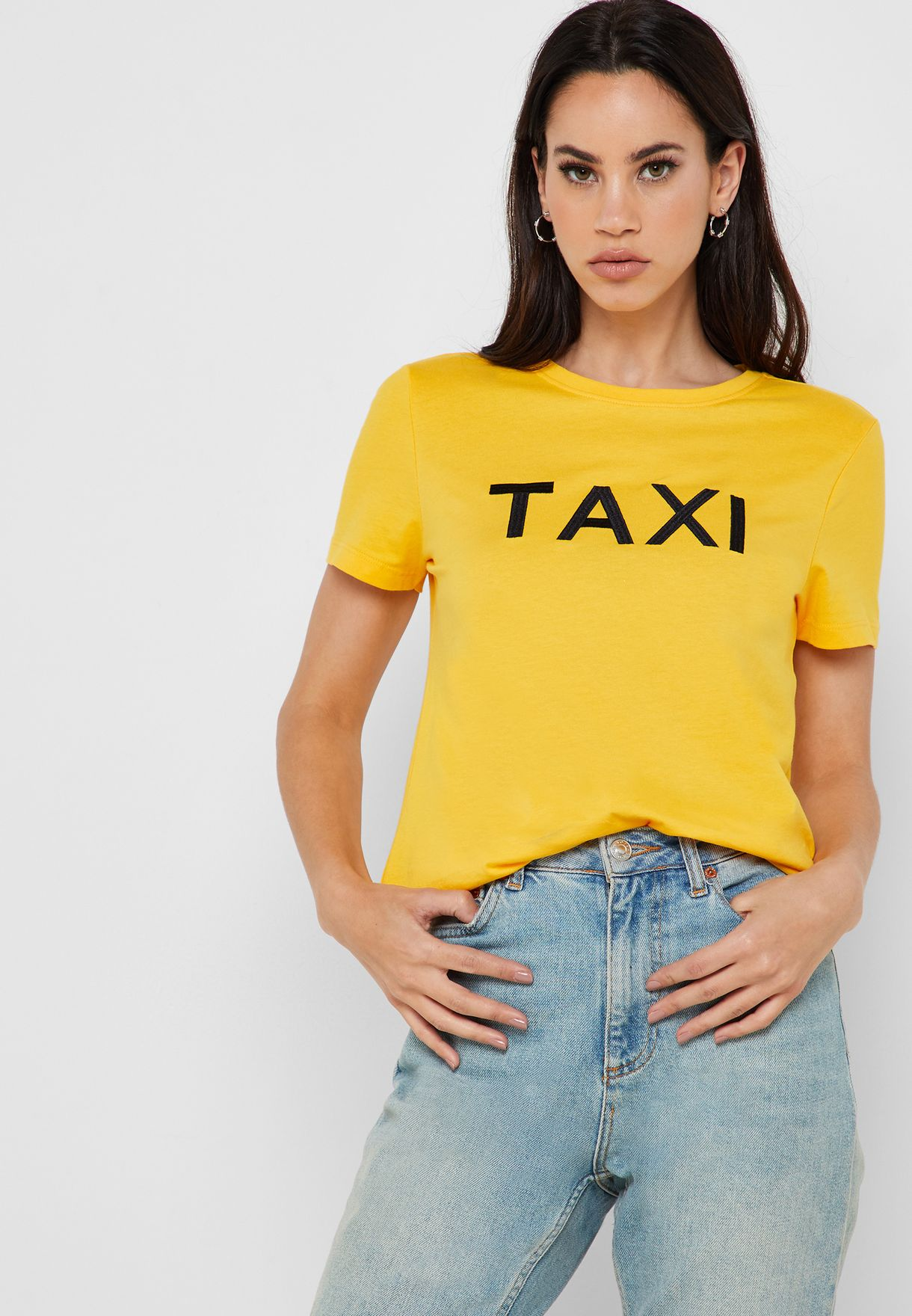 c5905dba2c3c Shop Only yellow Taxi Short Sleeve T-Shirt 15173745 for Women in UAE ...