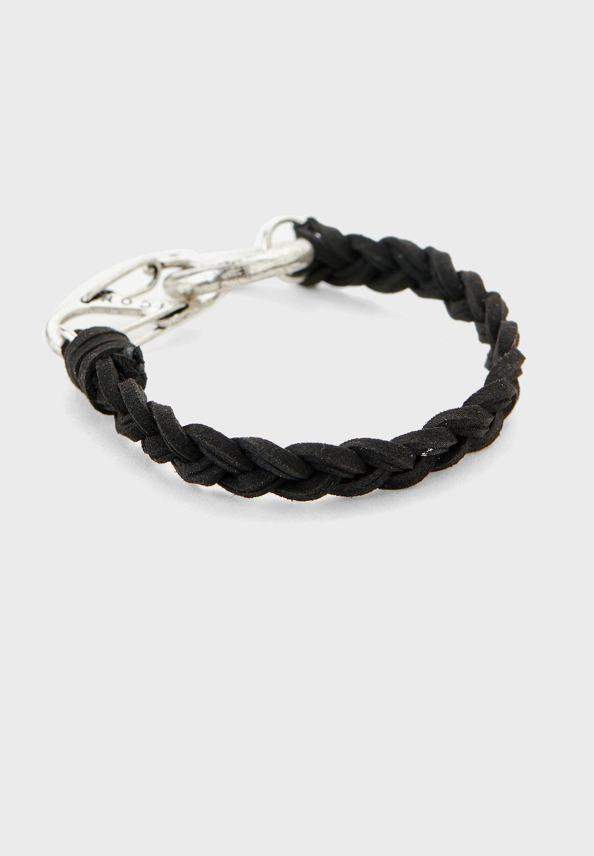 Clasp Plaited Feature Bracelet