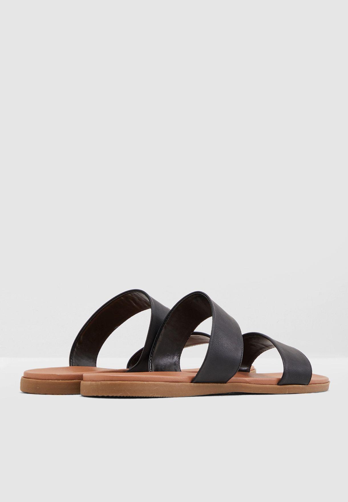 Funshine Flat Sandal - Black