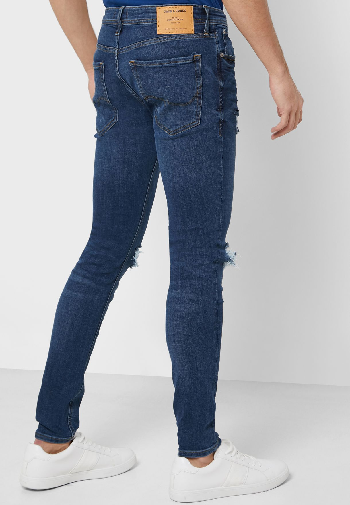 Tom Distressed Skinny Fit Jeans