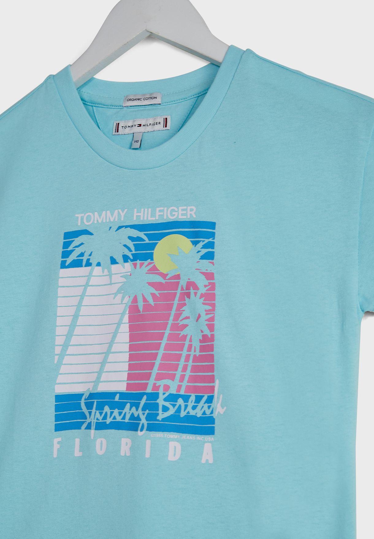 Teen Vintage Palm Print T-Shirt