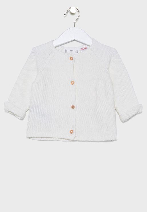 Infant Button Detail Cardigan