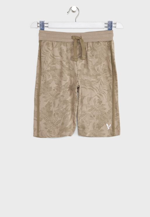 Kids Tropical Print Shorts