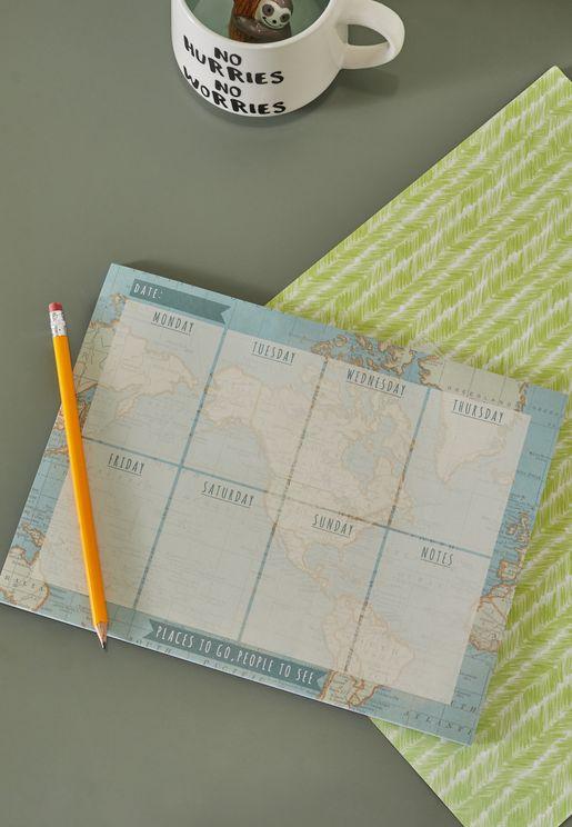 Vintage Map Weekly Planner