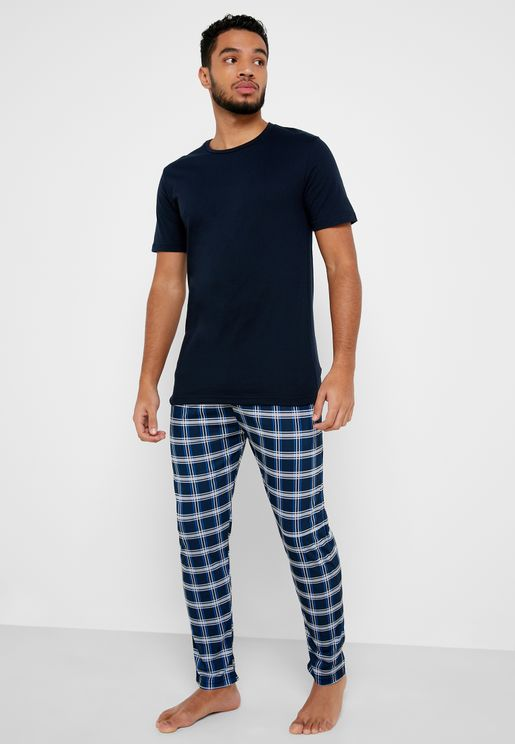 Check Bottom Pyjama Set