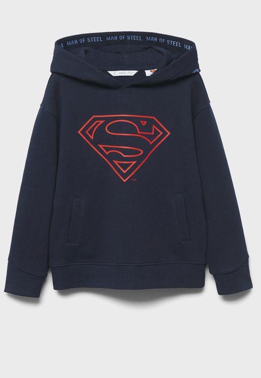 Kids Superman Logo Hoodie