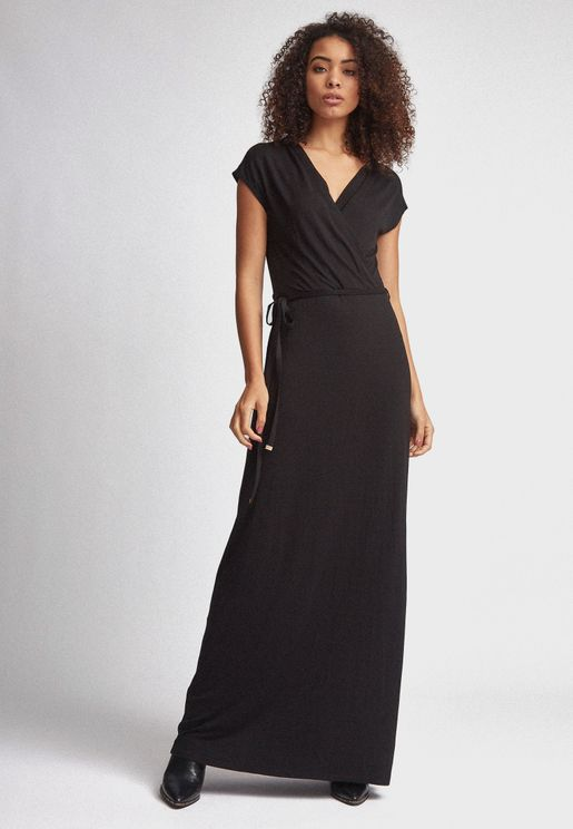 Tie Waist Wrap Dress