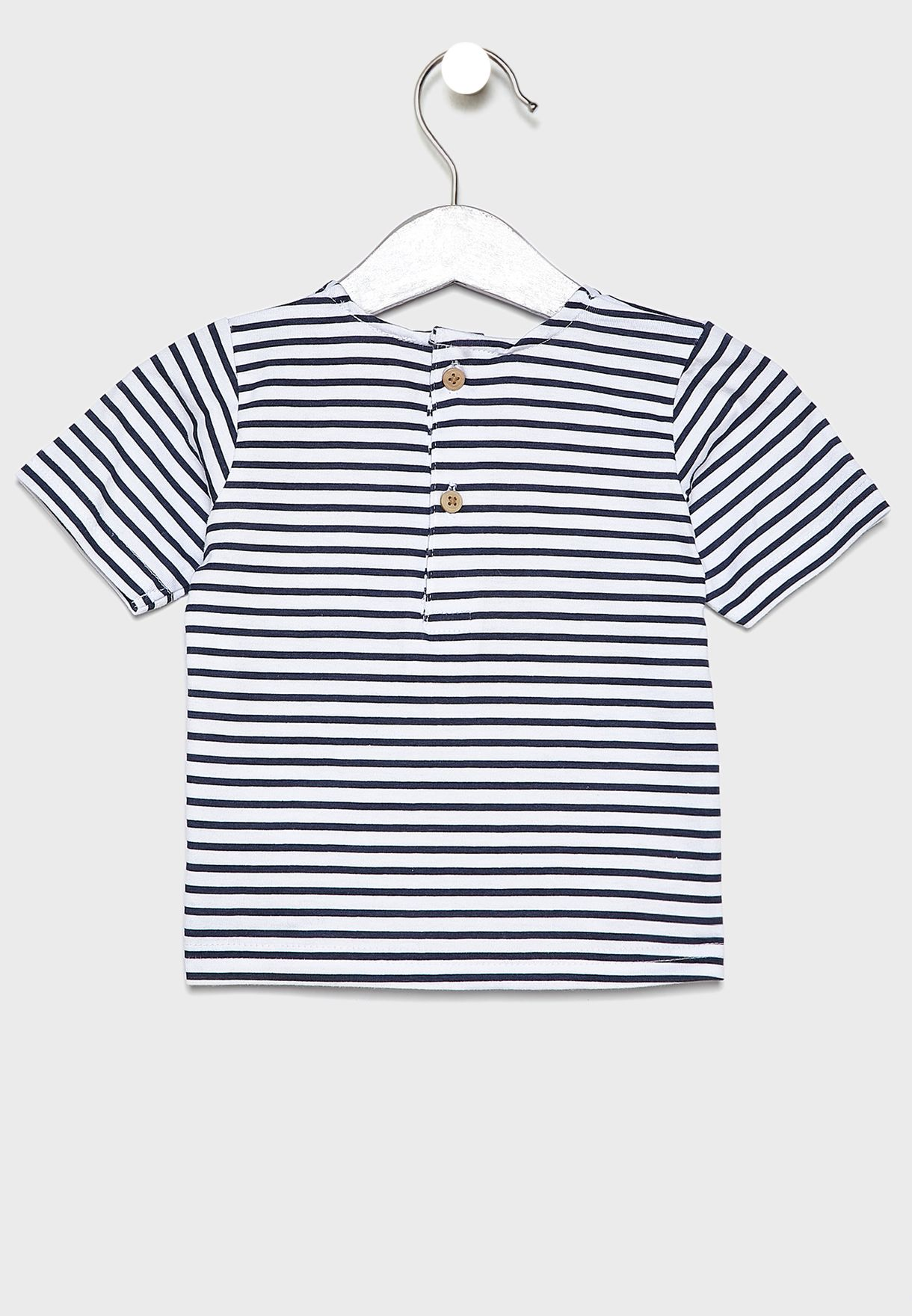 Infant Striped T-Shirt + Pant Set