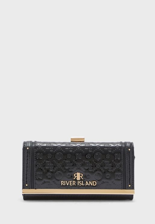 Embossed Patent Cliptop Clutch