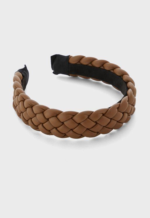 Pu Plait Wide Headband