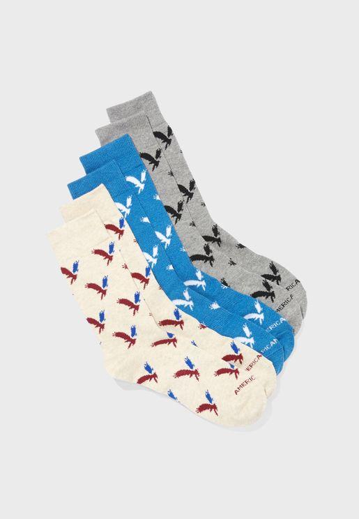 3 Pack Classic Crew Socks