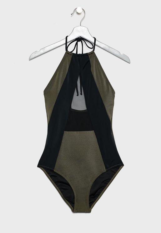 Contrast Detail Swimsuit