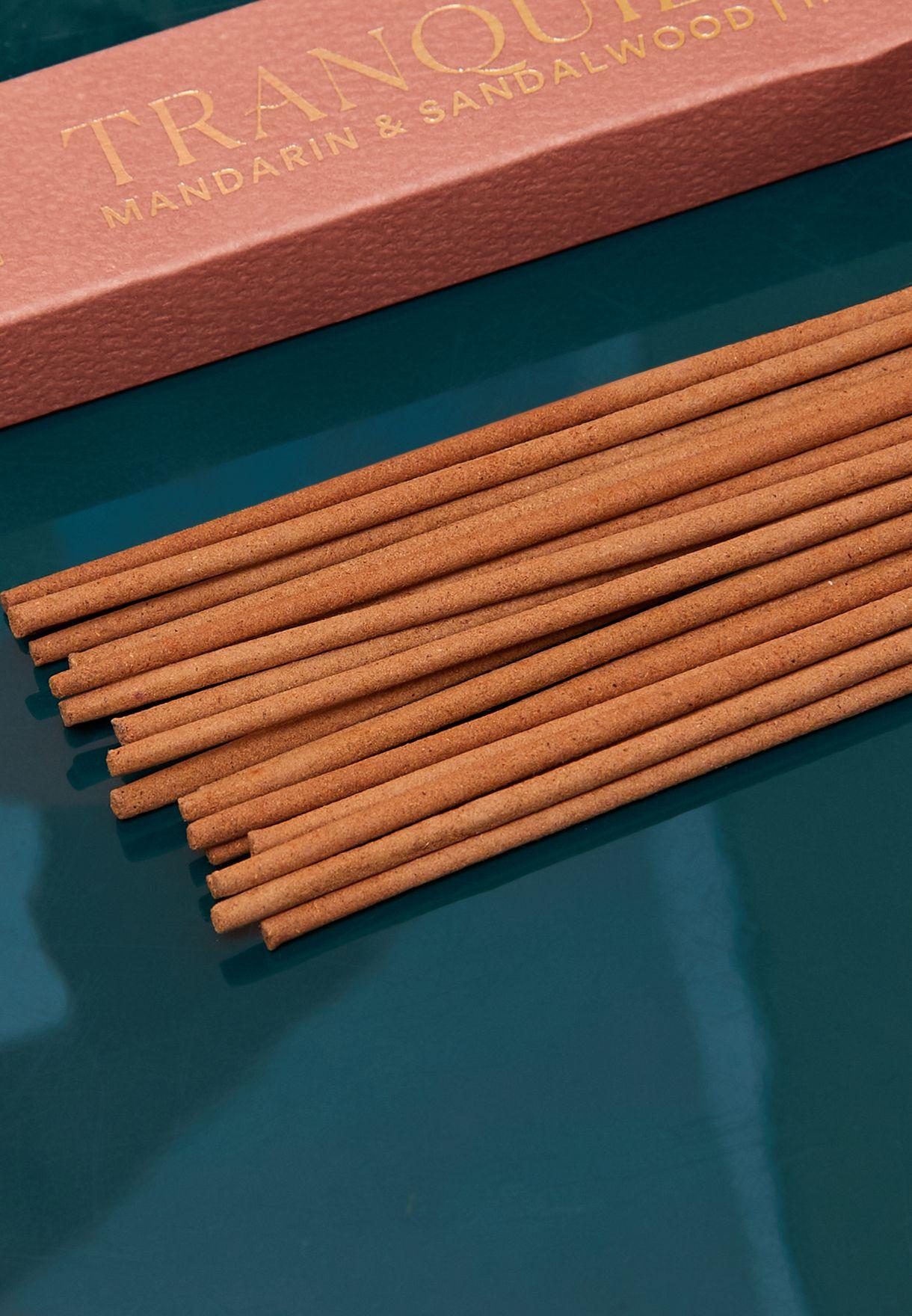 مجموعة 20 عود عطري بالماندرين وخشب الصندل