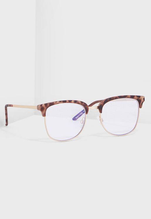 نظارة شمسية بعامل حماية من الضوء الازرق
