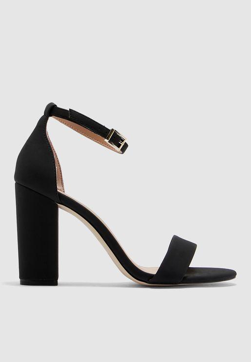 Vegan Leather Tayvia Block Heel Sandal