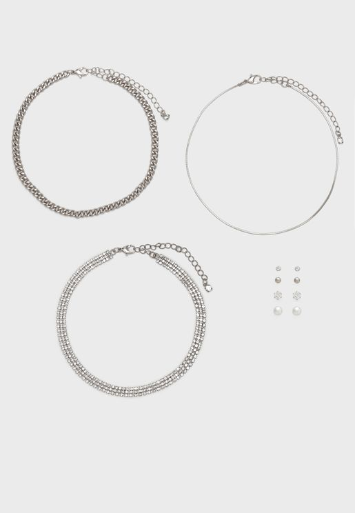 Multipack Clearbrooke Necklace + Earrings Set