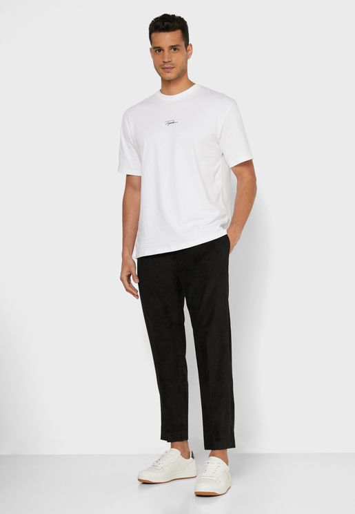 Corduroy Tapered Trousers