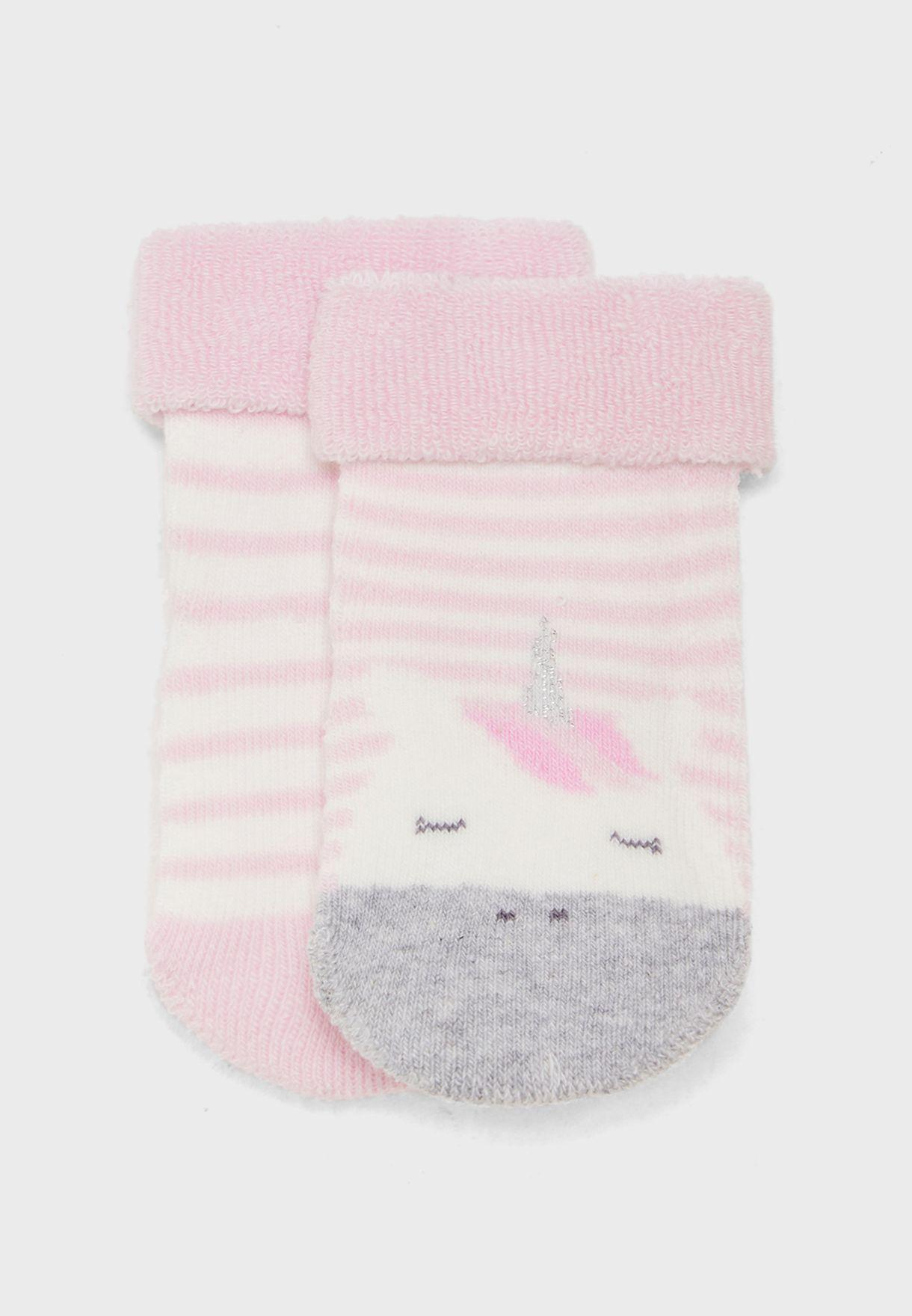 Infant 2 Pack Unicorn Socks